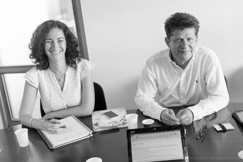 Jenny Seibert et Gaston Bigey de l'agence de développement économique Nexa.
