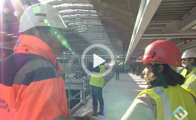 Photo de A quelques mois de l'ouverture, visite du chantier de la Halle Freyssinet (1 000 start-up)