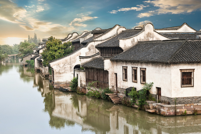 Water town of Wuzhen in Zhejiang province - China