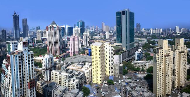 Mumbai financial capital of India skyline