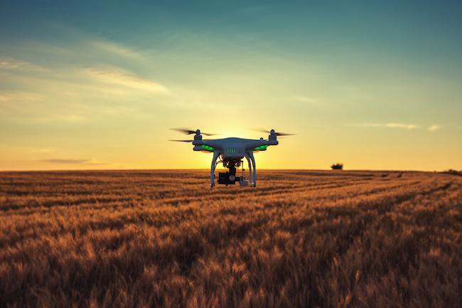 Varna, Bulgaria - June 23 ,2015: Flying drone quadcopter Dji Phantom 2 with digital camera GoPro HERO4
