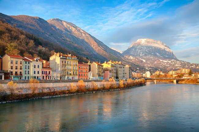 Grenoble at Sunset