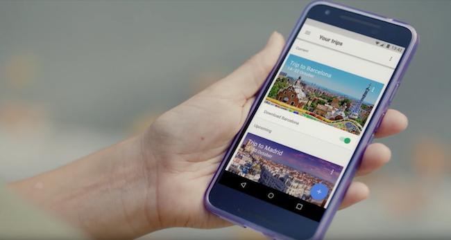 Photo de Avec Trips, Google veut vous faire voyager avec son app