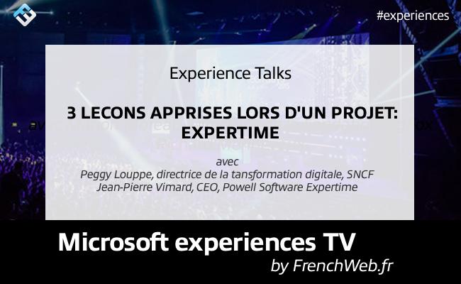 Photo de Experiences TV by Frenchweb «3 leçons apprises lors d'un projet: Expertime»