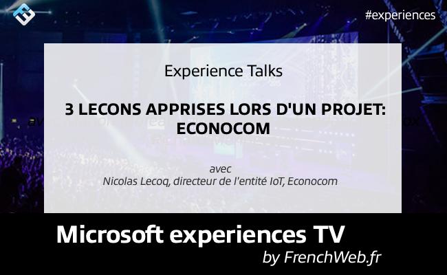 Photo de Experiences TV by FrenchWeb «3 leçons apprises lors d'un projet: Econocom»
