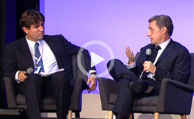 Photo de Nicolas Sarkozy: «Les entrepreneurs français vont à Londres parce qu'il est facile d'y lever des capitaux»