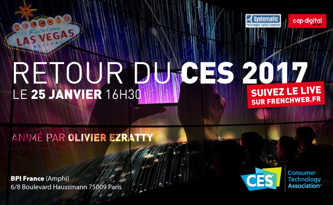 Photo de Retour du CES 2017 animé par Olivier Ezratty