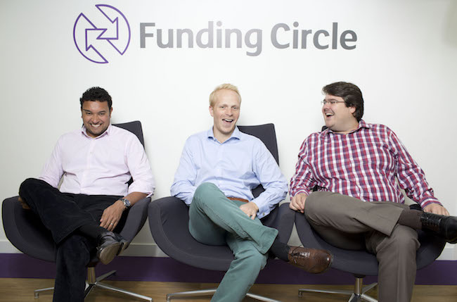 Funding Circle Founders Samir Desi  James Meekings ( blond)  and Andrew Mullinger  at there offices London Oct 13   Photograph © vicki couchman  07957226911  vicki@vickicouchman.com