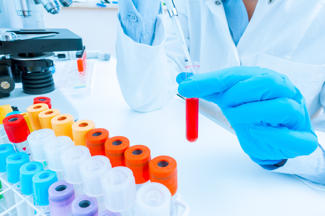scientist woman in genetic laboratory