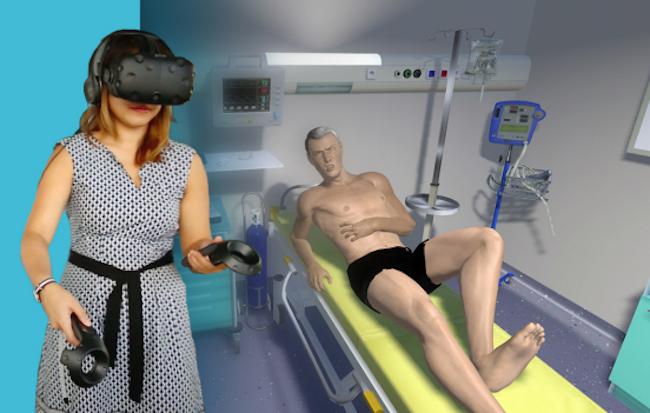 Photo de [CES 2017] Les Bordelais de SimforHealth utilisent la VR pour former des médecins