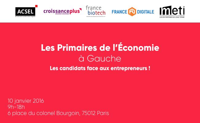 Photo de Evénement annulé: Primaires de l'économie: Arnaud Montebourg, Jean-Luc Bennahmias, François de Rugy, Vincent Peillon