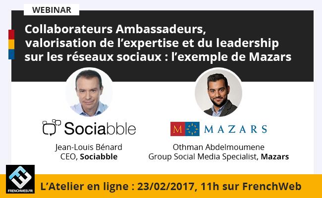 Photo de [Atelier en ligne] Collaborateurs ambassadeurs, valorisation de l'expertise et du leadership sur les réseaux sociaux