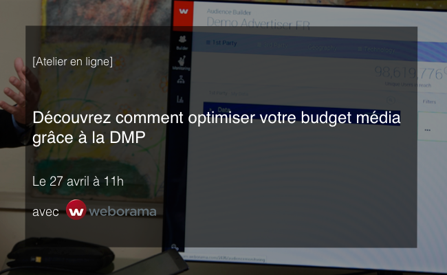 Photo de [Atelier en ligne] Optimisez votre budget média grâce à la DMP