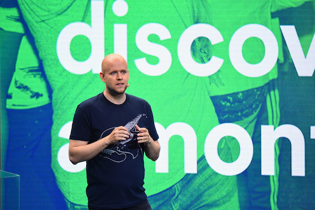 Photo de Spotify dans les starting-blocks pour entrer en Bourse à Wall Street