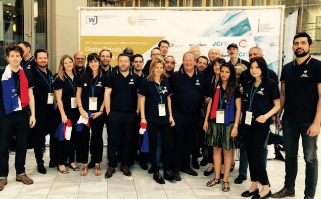 Photo de G20 des Entrepreneurs: La délégation française salue la vision d'Emmanuel Macron et lui apporte son soutien