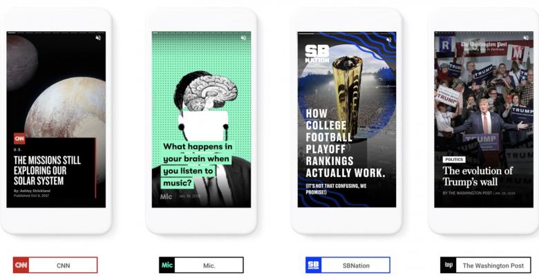 Google dévoile AMP Stories pour mettre en valeur les
