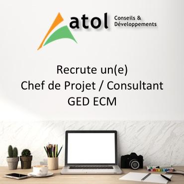 Atol Conseil Developpement recrute Chef de Projet Consultant GED ECM
