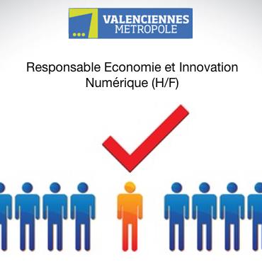 Valenciennes Metropole recherche un Responsable Economie et Innovation Numerique