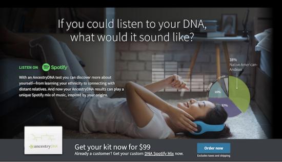 Spotify crée des playlists fondées sur l'ADN