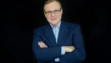 Photo de Paul Allen, co-fondateur de Microsoft, philanthrope et guitariste