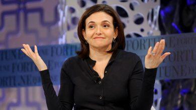 Photo de L'image iconique de Sheryl Sandberg, la numéro deux de Facebook, écornée