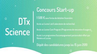 Photo de [Appel à candidatures] Concours Startup – DTx Science