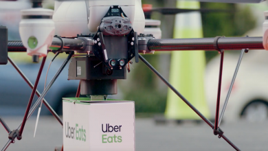 Photo de Uber va tester la livraison de repas par drones