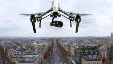 Photo de Des drones et des start-up sur les Champs-Elysées