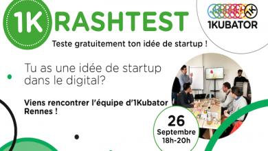 Photo de [1Krashtest#6] Viens pitcher ton projet de startup digitale à 1kubator Rennes