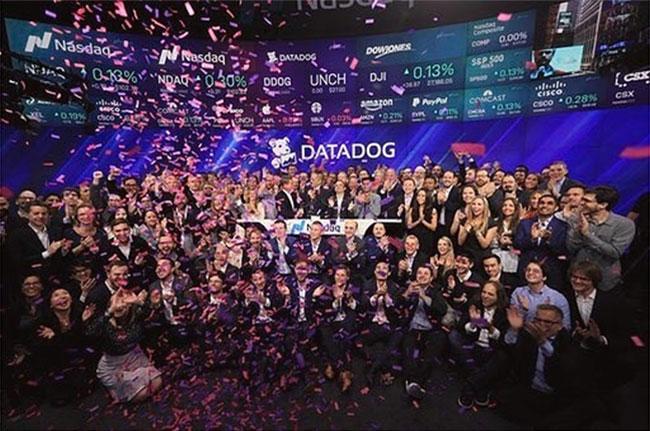 Créé par 2 français la startup Datadog franchit la valorisation des 10 milliards au Nasdaq