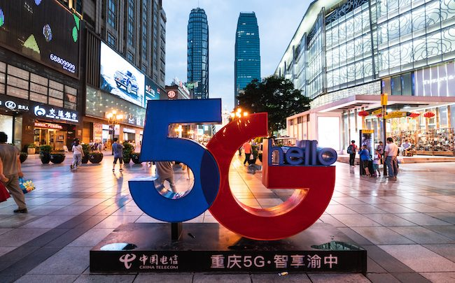 La Chine lance des services commerciaux 5G