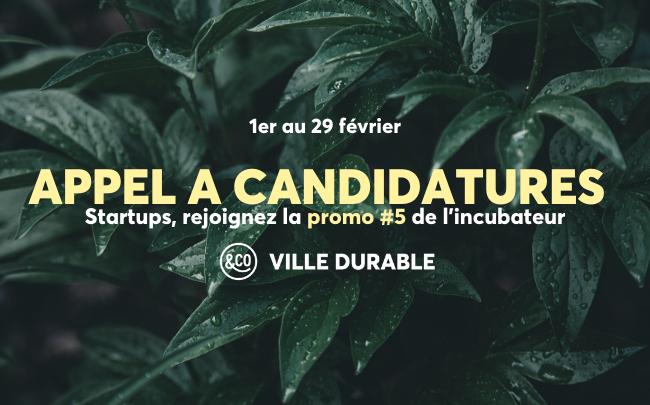 [Appel à candidatures] La plateforme d'incubation Ville Durable de Paris&Co recrute sa 5ème promo de startups - FrenchWeb.fr