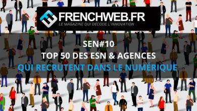 Photo de Le Top 50 des Entreprises de Services du Numérique et des Agences qui recrutent en 2020