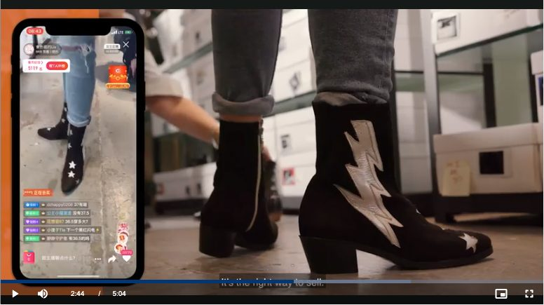 example de Livestream shopping