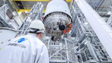 Photo de Ariane 6: dans sa course contre SpaceX, Arianegroup s'apprête à mener les «essais à feu»